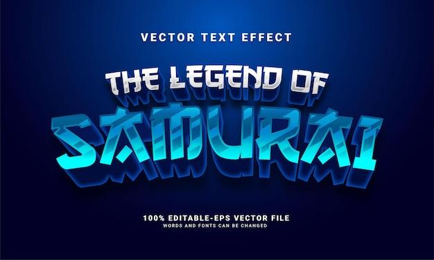 Самурай 3d текстовый эффект, редактируемый стиль текста