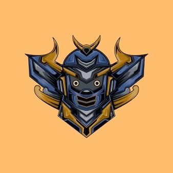 Samurai cyborg illustration