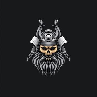 Samurai head skull