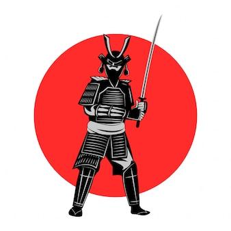 Samurai hold sword