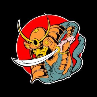 侍のロゴデザイン