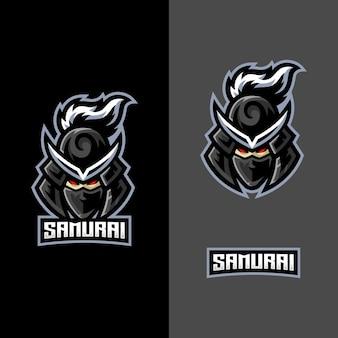スポーツゲームeスポーツチームのサムライマスコットロゴ