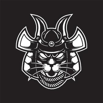 Самурай пантера логотип