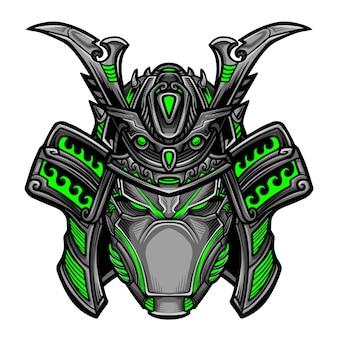 Samurai robot vector