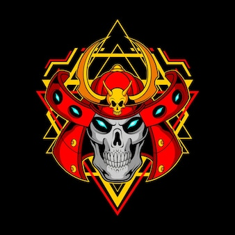 Samurai skull for commercial use