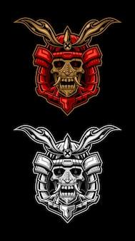 Samurai skull head