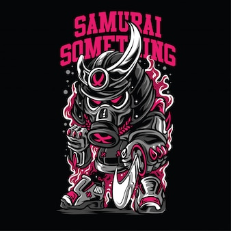 Самурай что-то иллюстрация