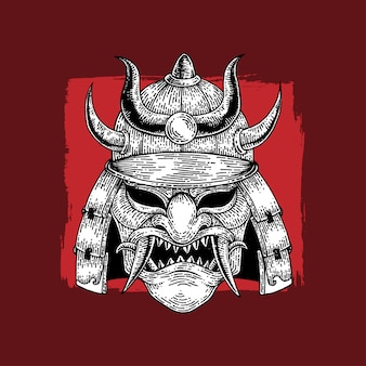 Samurai war helm