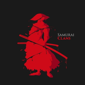 Samurai warrior splash