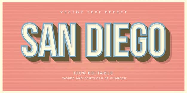 San diego text effect