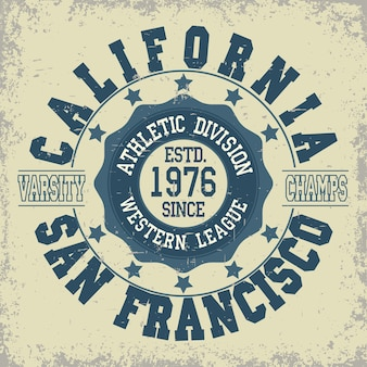 San francisco athletics typography stamp