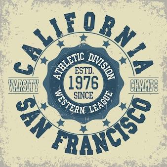 샌프란시스코 육상 타이포그래피 스탬프