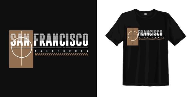 プリントtシャツデザインのサンフランシスコカリフォルニア