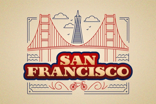 San francisco city lettering