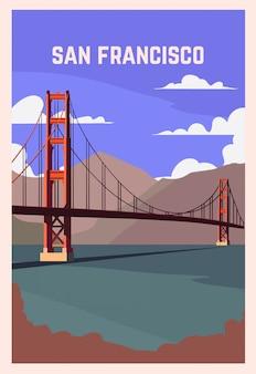 サンフランシスコのレトロなポスター。