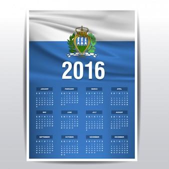 San marino il calendario del 2016