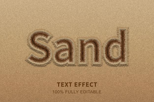 모래 해변 스타일 텍스트 효과, 편집 가능한 텍스트
