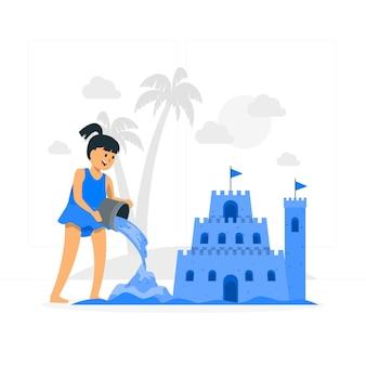 砂の城の概念図