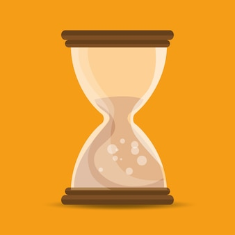 Sand clock time school education online symbol
