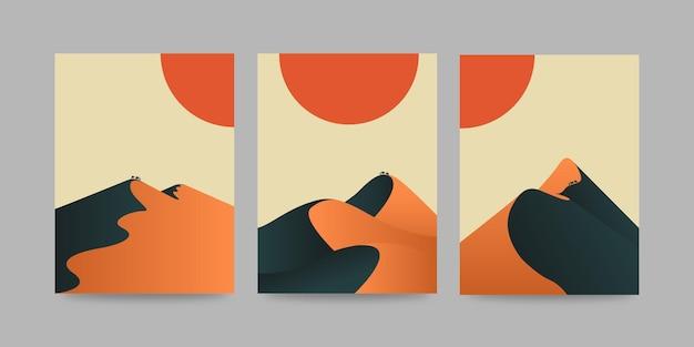 砂丘アートプリント抽象砂漠アートポスター