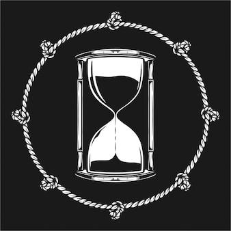 Песочные часы иллюстрация