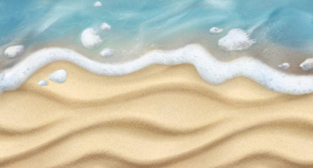 Sand and wave. beach realistic background