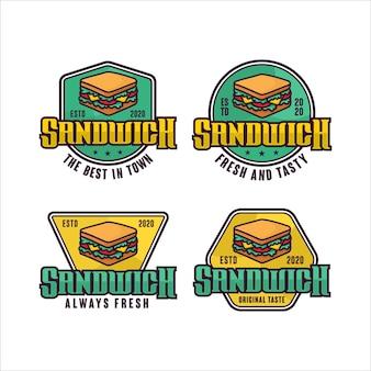 샌드위치 배지 디자인 로고 컬렉션