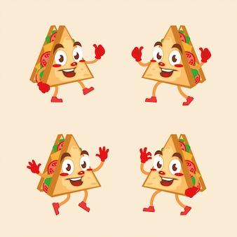 Сэндвич мультипликационный персонаж весело талисман