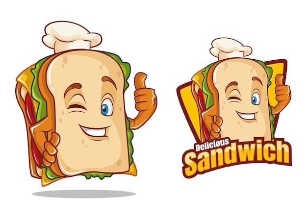 サンドイッチキャラクターデザイン漫画食品