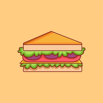Sandwich icon. fast food collection. isolated food icon