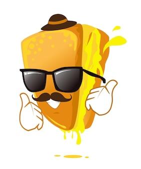 Sandwich icon mascot cartoon in vector