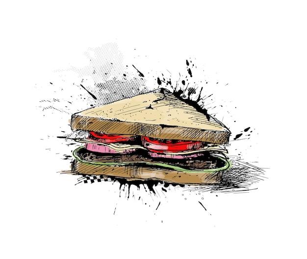 Рисунок контура сэндвича