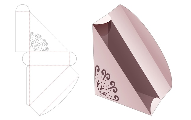 Sandwich packaging with stenciled madala die cut template