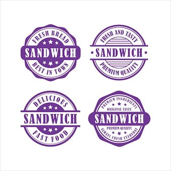 Sandwich stamps design collection