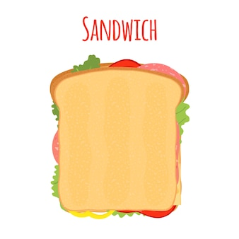 Sandwich. tomato, pepper, cheese, salad, toast