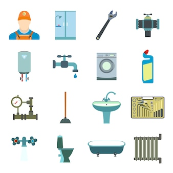 Sanitary engineering flat elements set