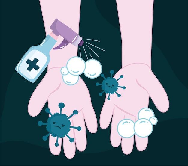 Дезинфицирующее средство для зараженных рук