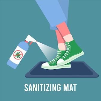 Sanitizing mat concept