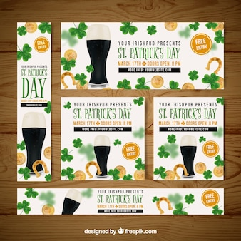 Sant patrick's day banners web collection