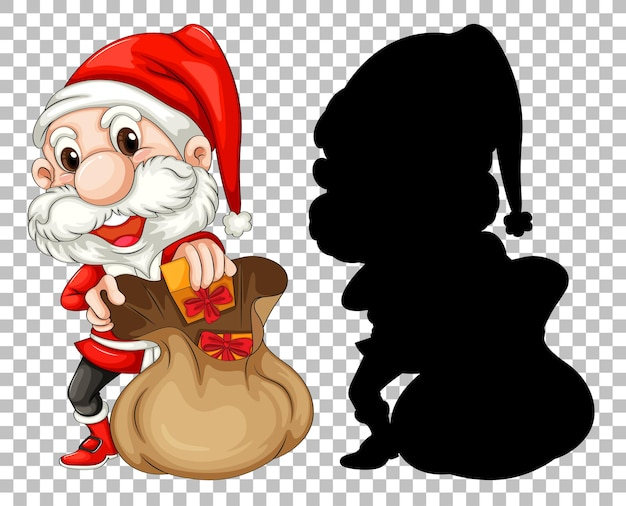 Санта и подарочная сумка