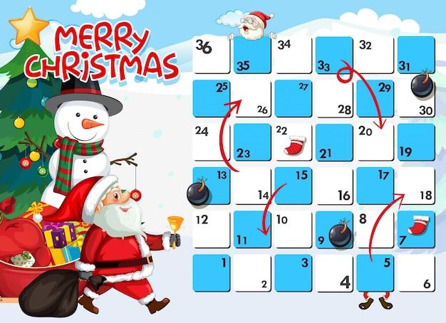 Santa on board game template