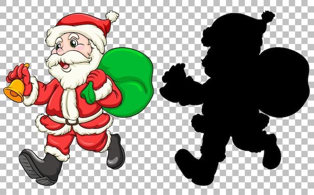 サンタがギフトバッグを運ぶ
