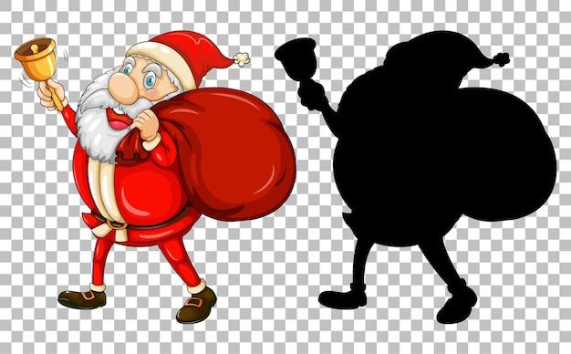 Santa portando la borsa regalo