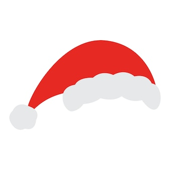 Santa christmas hat. red santa top hat