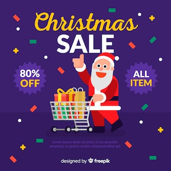 Santa christmas sale background