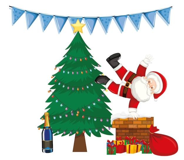 Дед мороз и новогодняя елка