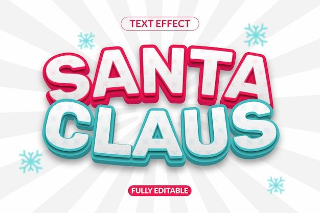 산타 클로스 모양 효과 텍스트 글꼴 스타일