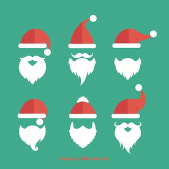 Santa claus beards collection