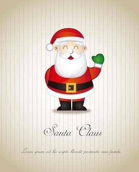 Santa claus over brown background vector illustration