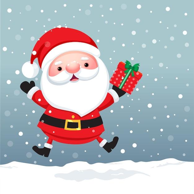 Санта-клаус мультипликационный персонаж на рождество
